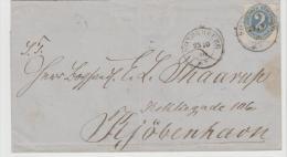 Sch008/ (Schleswig) Mi.Nr. 16 Ex Sonderburg Via Apenrade/Hadersleben Nach Kopenhagen 1866 - Schleswig-Holstein