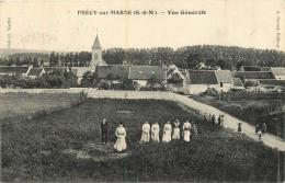 RARE PRECY SUR MARNE VUE GENERALE AVEC CACHET FRANCHISE MILITAIRE DU 248em REGT TERRITORIAL D'INFANTERIE - France