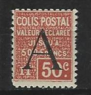"""FR Colis Postaux YT 84 """" Valeur Déclarée 50c. Rouge """" 1928 Neuf* - Paketmarken"""