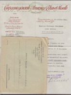 France COMPAGNIE GÉNÉRALE D'ASSURANCES, Rhin & Moselle STRASSBOURG Facture & Enveloppe 1921 - France