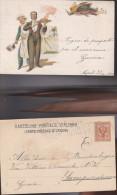 527) CUOCO CAMERIERE CACCIAGIONE VIAGGIATA 1901 - Alberghi & Ristoranti