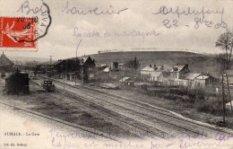 76 Aumale, La Gare, - Aumale