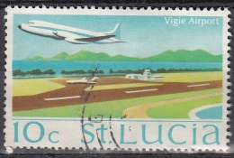 St. Lucia, 1970/73 - 10c Vigie Airport - Nr.266 Usato° - St.Lucia (1979-...)