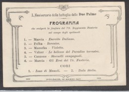 6925-SIDI-DAUD 12 MARZO 1913-PROGRAMMA FANFARA 79° REGG. FANTERIA-GUERRA ITALO-TURCA - Programmes