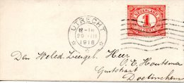 PAYS-BAS. N°66 Sur Enveloppe Ayant Circulé En 1918. - Periode 1891-1948 (Wilhelmina)