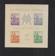 SBZ West-Sachsen Block 5X Postfrisch - Soviet Zone