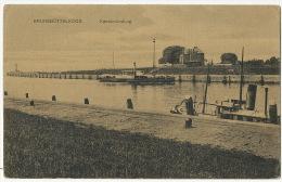 Brunsbuttelkoog Kanalmundung Edit Gluckstadt Munden Bateau A Aube Paddle Boat Lighthouse - Brunsbuettel