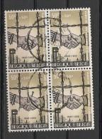 BELGIE BELQIQUE Blok Van 4 1329 Bloc De 4 - Used Stamps