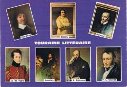 LA TOURAINE LITTERAIRE - Descartes, Balzac, Ronsard, A. De Vigny, Rabelais, R. Boylesve, P. L. Courier - Circulé 1968 - Scrittori