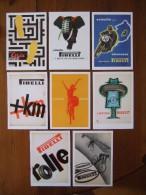 PIRELLI Lot De 8 Cartes Postales - Pubblicitari