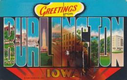 GREETING FROM BURLINGTON, IOWA,POST- CARD COLLECTIONS,UNUSED, - Iowa City