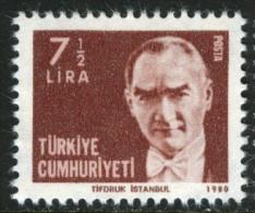 TURKEY 1981 (**) - Mi. 2572, ATATÜRK Regular Issue Stamp - 1921-... République