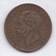 ITALY 10 Centesimi 1866 H   VF/XF  Vittorio Emanuele II Birmingham Mint - 1861-1946 : Kingdom