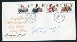 1980 GB Famous People Eliot, Gaskell, Bronte FDC - SIGNED Laurie Metcalf Film TV Actress Roseanne - FDC