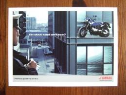 YAMAHA Scooter Motorbike Carte Postale - Publicité