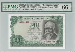 Spain 1000 Pesetas 1971 P154 Special Serie 9B Graded 66 EPQ By PMG (Gem Uncirculated) - [ 3] 1936-1975: Regime Van Franco