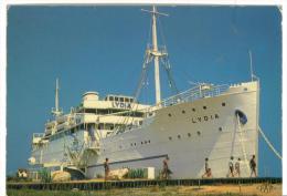 CPM  66 Port - Barcares  Le Lydia Premier Paquebot Des Sables  1980 - Paquebots