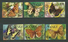 POLAND MNH **  2345-2350 Papillon, Papillons - 1944-.... Republik