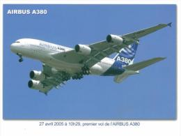 Lot De 4CPM  - 31 - Toulouse  Capitale Aeronautique - 2  Airbus     A380 & A 340  Et Premier Supersonique  Le Concorde - 1946-....: Era Moderna