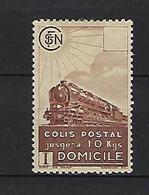 "FR Colis Postaux YT 174 "" Domicile SV Brun "" 1941 Neuf* - Paketmarken"