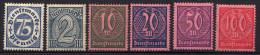 DR Dienstmarken 1922, Mi D 69-74 * [280615XIII] - Dienstzegels