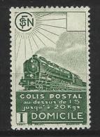 "FR Colis Postaux YT 176 "" Domicile SV Vert "" 1941 Neuf* - Paketmarken"