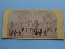 LOUVRE Paris - La France / Stereo Photo Card ( Voir Photo Pour Detail ) !! - Stereoscopio