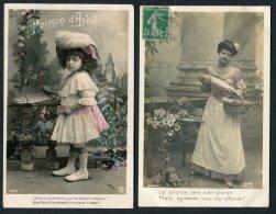 France April Fool Poisson D'Avril  Fish JAK Paris RP Postcards X 2 - April Fool's Day
