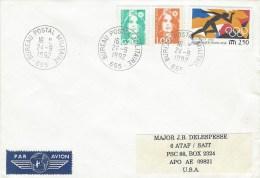 France 1992 BPM 655 Sarajevo Ex-Yugoslavia War UNPROFOR Peacekeeping Military Cover To APO AU 09821 Turkey - Militaire Stempels Vanaf 1900 (buiten De Oorlog)