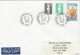 France 1992 BPM 652 Pencevo Ex-Yugoslavia War UNPROFOR Peacekeeping Military Cover To APO AU 09821 Turkey - Militaire Stempels Vanaf 1900 (buiten De Oorlog)