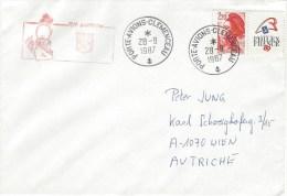 France 1987 Porte Avions Clemenceau Suffren Naval Cover - Poststempel (Briefe)