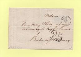 Molsheim - 67 - Bas Rhin - 20 Juin 1851 - Courrier A Entete De La Mairie - Taxe Double Trait 25 - 1849-1876: Période Classique