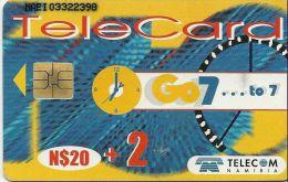 TELECARTE PHONECARD NAMIBIA NAMIBIE  CARTE A PUCE 20 DOLLARS  + 2 TALK MORE - Namibia