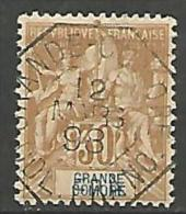 GRANDE COMORE  N� 9  OBL CACHET OCTOGONAL TTB
