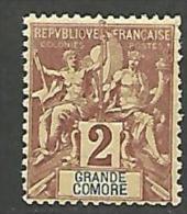 GRANDE COMORE  N� 2 NEUF* TB TRACE DE CHARNIERE / MH