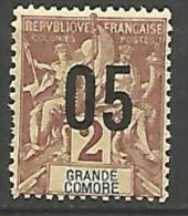 GRANDE COMORE  N� 20 NEUF* TB TRACE DE CHARNIERE / MH