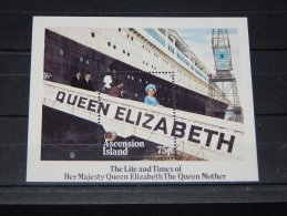 Ascension - 1985 Queen Mother Block MNH__(TH-1723) - Ascensione