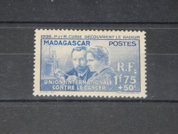 Madagascar - 1938 Marie Curie *mint HINGED*__(TH-9698)