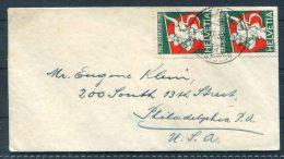 1932 Switzerland Pro Juventute Cover Bern - USA - Briefe U. Dokumente