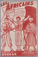 Partition avec paroles, chant patriotique, Les Africains, d�di� au g�n�ral de Monsabert  1945