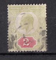 Avénement Edouard VII  2d Vert Jaune N°109 - Gebraucht