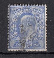 Avénement Edouard VII  2 1/2d Bleu N°110 - Gebraucht