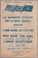 Partition avec paroles, chant patriotique, Hymne National de l�Union Sovi�tique  1944