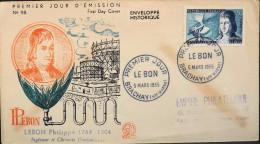 ENVELOPPE 1er JOUR 1955 - Philippe LE BON - Brachay Le 05.03.1955 - TBE - - FDC