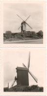 Foto/Photo. Koksijde/Coxyde. Molen/Moulin Près De L'Abbaye Des Dunes. Lot De 2 Photos. - Orte