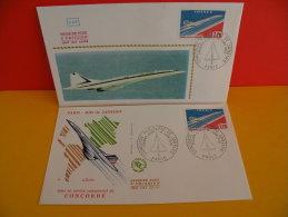 FDC- Concorde Paris / Rio De Janeiro, Poste Aérienne - Paris - 10.1.1976 - 1er Jour, Coté 16 € Lot 2 FDC - FDC