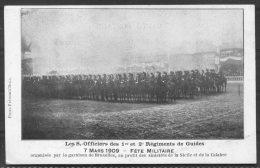 1909 Belgium Bruxelles Fencing / Gymnastics School Fete Militaire Postcard - Education, Schools And Universities
