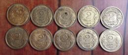 Monnaie fran�aise 10 pi�ces 2 francs 1939 Morlon