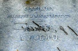 """JUDAICA COLMAR LETTRE ENTETE ABRAHAM SEE """"AB.SEE"""" BANQUE 1854 à ROHTSCHILD FRERES PARIS B.E. V.SCANS+HISTORIQUE - 1800 – 1899"""