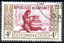 DAHOMEY 1961 Artisans - 4f  Potter  FU - Benin – Dahomey (1960-...)
